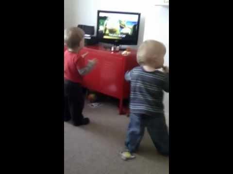 Babies dancing to
