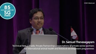 Dr Samuel Thevasagayam adresses the Technical Item 2 on Public-Private Partnerships