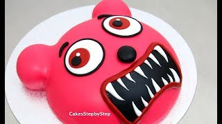 How To Make a Gummy Bear Zombie Cake by Cakes StepbyStep