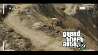 GTA 5 BMX- Mt. Chilliad Downhill Scorcher Run 2 (Extreme Bike Riding)