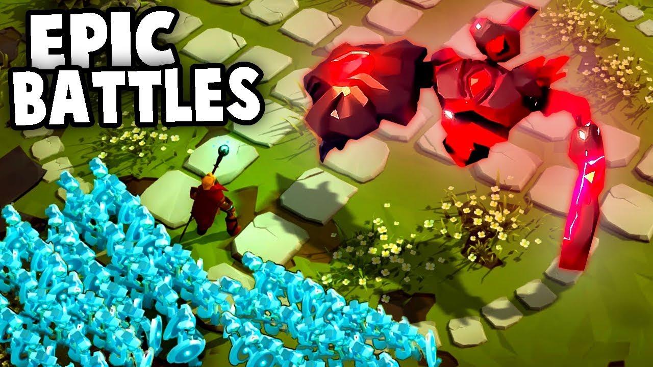EPIC Battles vs GIANT Golems! (Masters of Anima Gameplay)