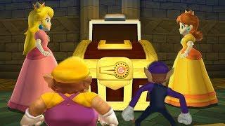 Mario Party 9 Garden Battle - Peach Vs Daisy Vs Wario Vs Waluigi| Cartoons Mee
