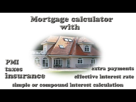 Mortgage Calculator with PMI Taxes and Insurance and Extra payments