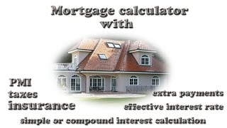 mortgage calculator with extra principal payments