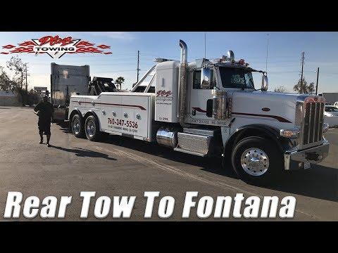 Rear Towing A Peterbilt To Fontana Episode 200!