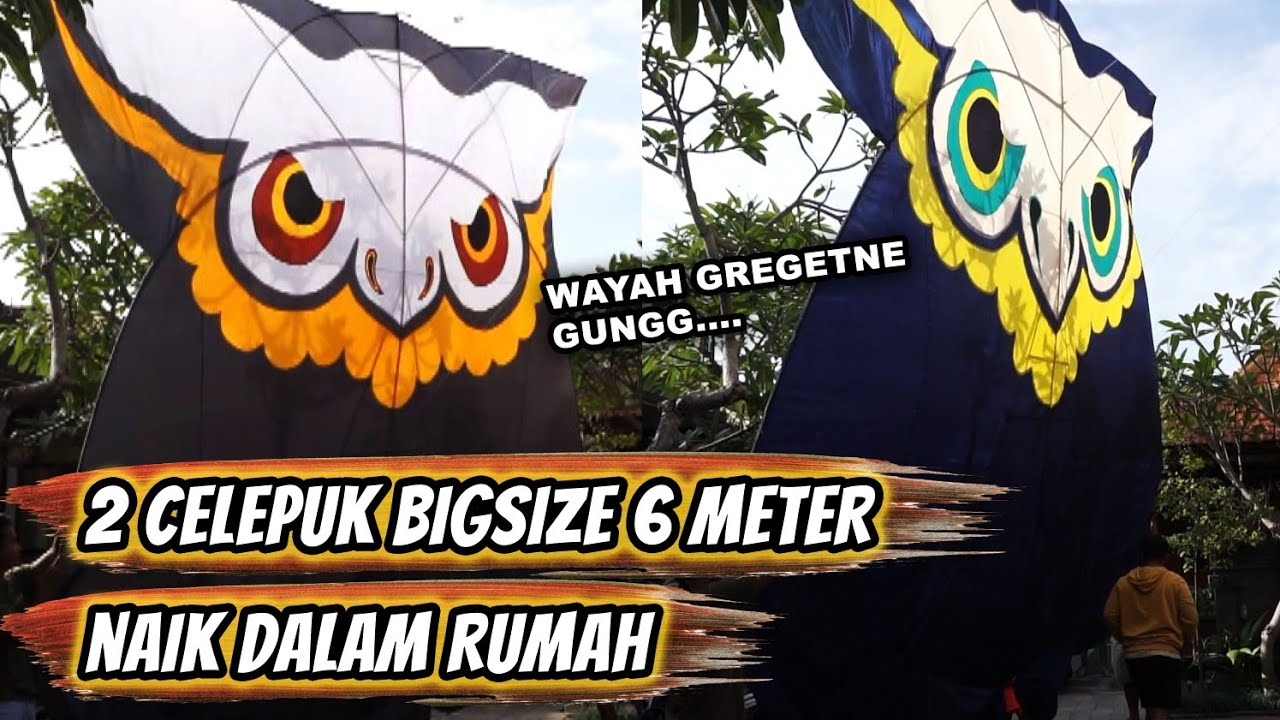 Dua Celepuk BigSize Motif Mata Terbang Cuma Pakai Kerek Kecil - By Pasraman Kelod Sanur