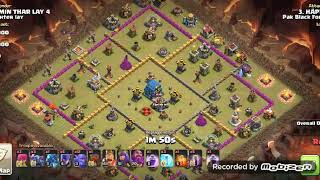 Town hall 12 vast attack for coc in war 3star
