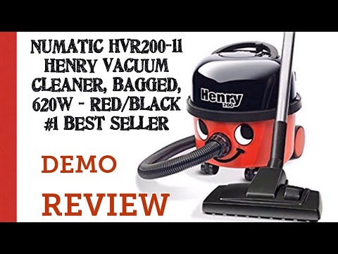 NUMATIC HVR200-11 Henry Vacuum hoover Cleaner, Bagged, 620 W - Red/Black #1 Best Seller Review