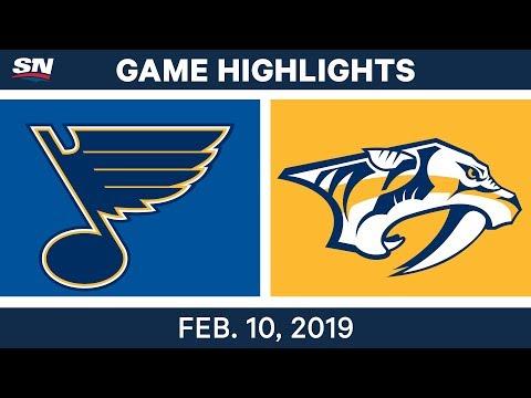 NHL Highlights | Blues vs. Predators - Feb 10, 2019