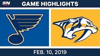 NHL Highlights   Blues vs. Predators - Feb 10, 2019