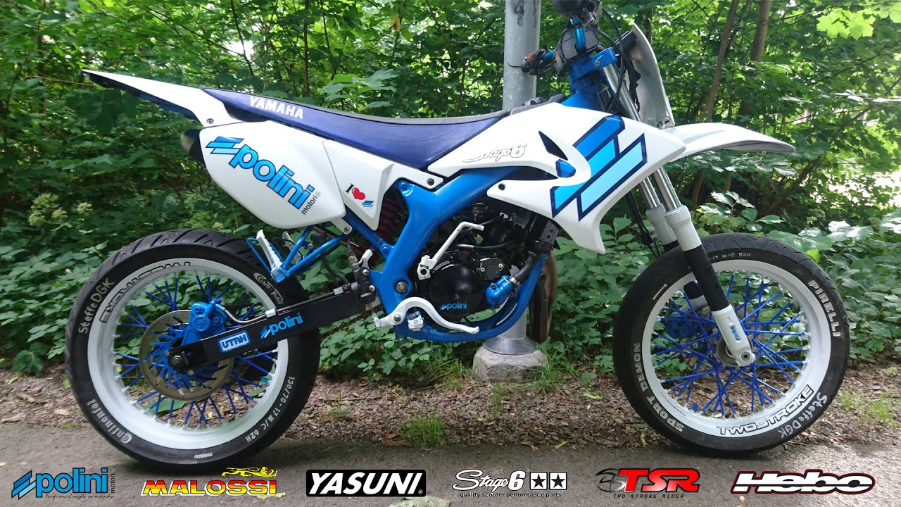 Yamaha Dt50 sm 80cc Polini Edition project video - YouTube