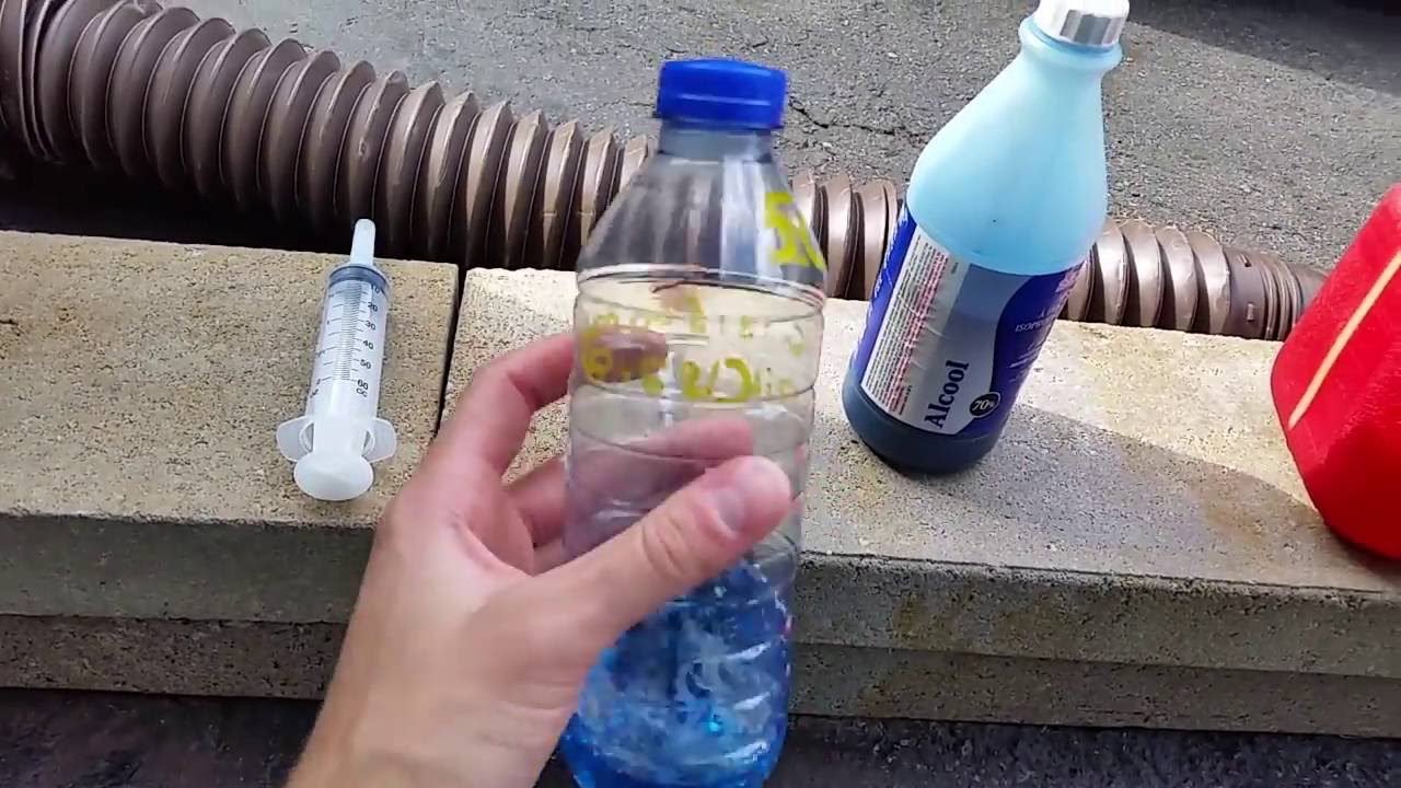 Mix 50:1 Gas With a 500ml Water Bottle