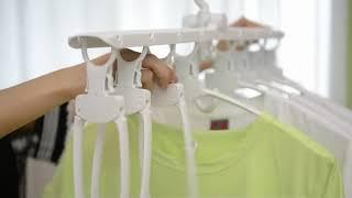 시스템 행거 바지 걸이 논슬립 정리 옷 접이식 옷걸이
