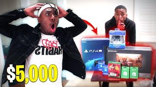 ANGRY KID STEALS $5,000 to BUY EVERY Fortnite Skin in the Game! LITTLE COUSIN GONE WILD!