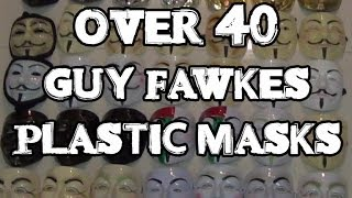 Thin Plastic Guy Fawkes Anonymous Masks Review: 3 Versions & Over 40 Color Variations