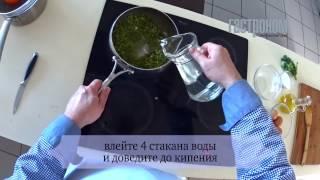 Пюре из зеленого гороха с яйцом