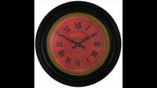 Black Wood Framed Moore Dial Wall Clock - 50cm