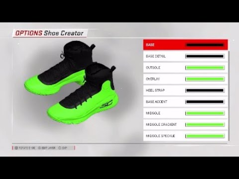 3853bcd08a79 NBA 2K18 Shoe Creator  Under Armour Curry 4 Custom