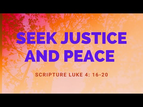 June 07, 2020 Virtual Worship (Seek Justice and Peace)