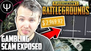 PLAYERUNKNOWN'S BATTLEGROUNDS — GAMBLING SCAM Exposed (Unrealdrop.com & XCrates.com)!