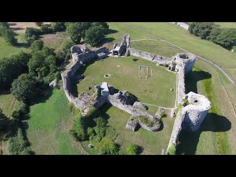 Pevensey Castle Aerial / Drone View