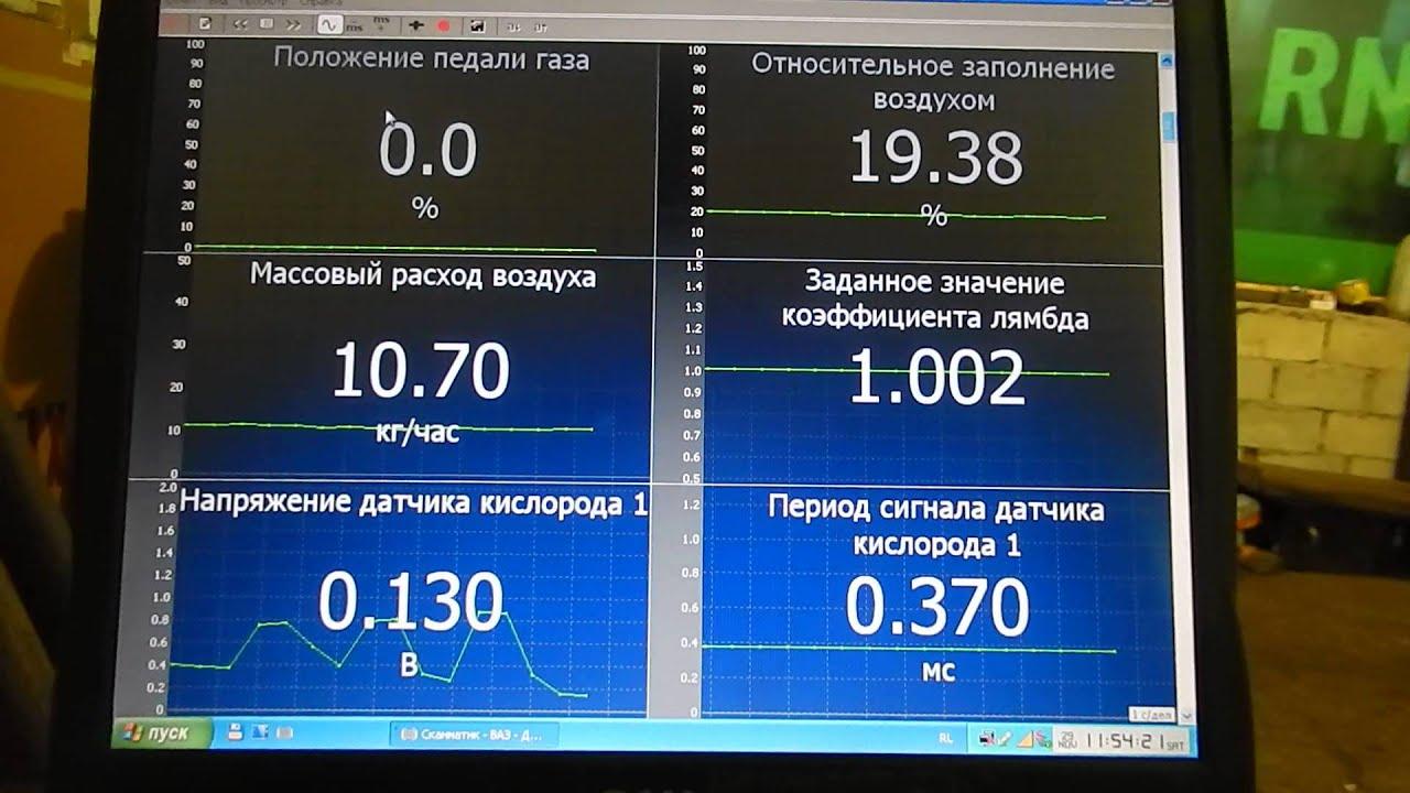 массовый расход воздуха на холостом ходу на приоре 1.6 V16