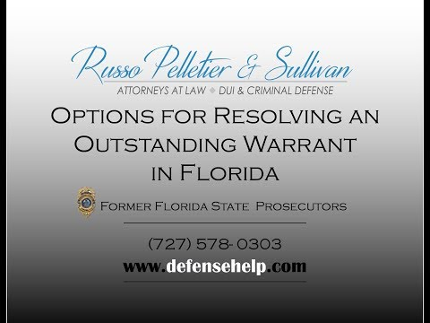 Options for Resolving an Outstanding Warrant in Florida