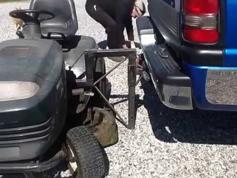 Riding Mower Carrier For Transport Youtube