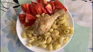 Быстрый ужин/Куриная голень с луком в сметане