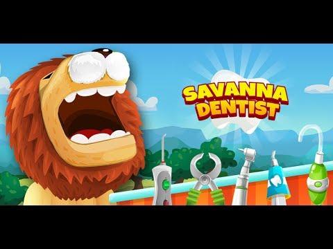 Savanna dentist in Africa- Lion Fox and Gorilla Ekran Görüntüsü