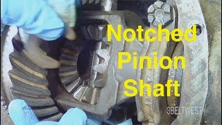 FORD 7.5 Notched PINION Shaft on 3.73 gears rear axle