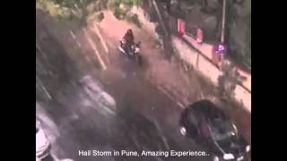 Hail Storm in Pune, India