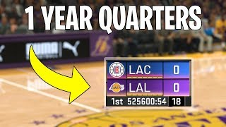I Made Quarters 1 Year Long In NBA 2K20...