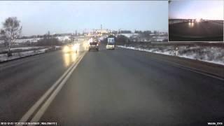 Столкновение с бочкой(по середине левой полосы на Калужском шоссе лежала стальная 200л бочка., 2013-02-02T19:28:04.000Z)