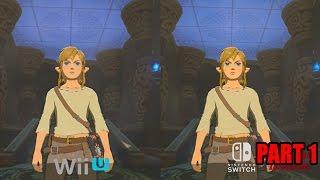 Zelda Breath of the Wild - Final Wii U Version vs Switch Graphics Comparison