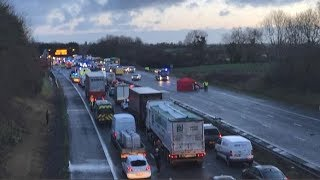 M5 Somerset crash: Woman dead and 10 injured