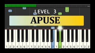melodi piano apuse - tutorial grade 3 - lagu daerah nusantara -  apuse , irian jaya / papua