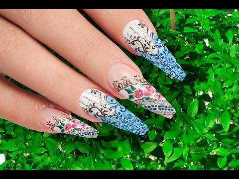Rustic Floral Nail Art Design (Festa em Alfama) - Nails 21 ...
