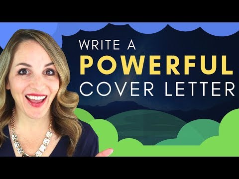 How To Create A Cover Letter For A Job - GOOD Cover Letter Example