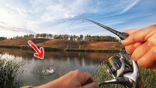 Со спиннингом на незнакомый водоем! Рыбалка на спиннинг ловля щуки в октябре. От джига, до колебалки