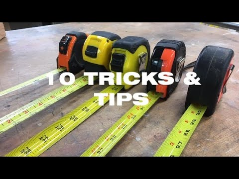 10 Tape Measure Tricks & Tips