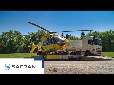 1er vol dun hélicoptère de secours avec du carburant aérien durable | Safran