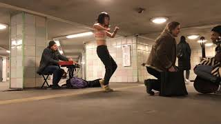 Strangers Performing Together in a Berlin Subway Station (at first encounter!)