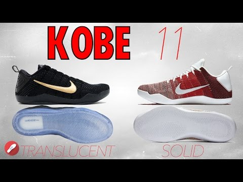 Kobe 11 Translucent vs Solid Rubber Outsole! Whats Better?