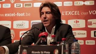 Ricardo Sá Pinto après la victoire (1-3) à Mouscron