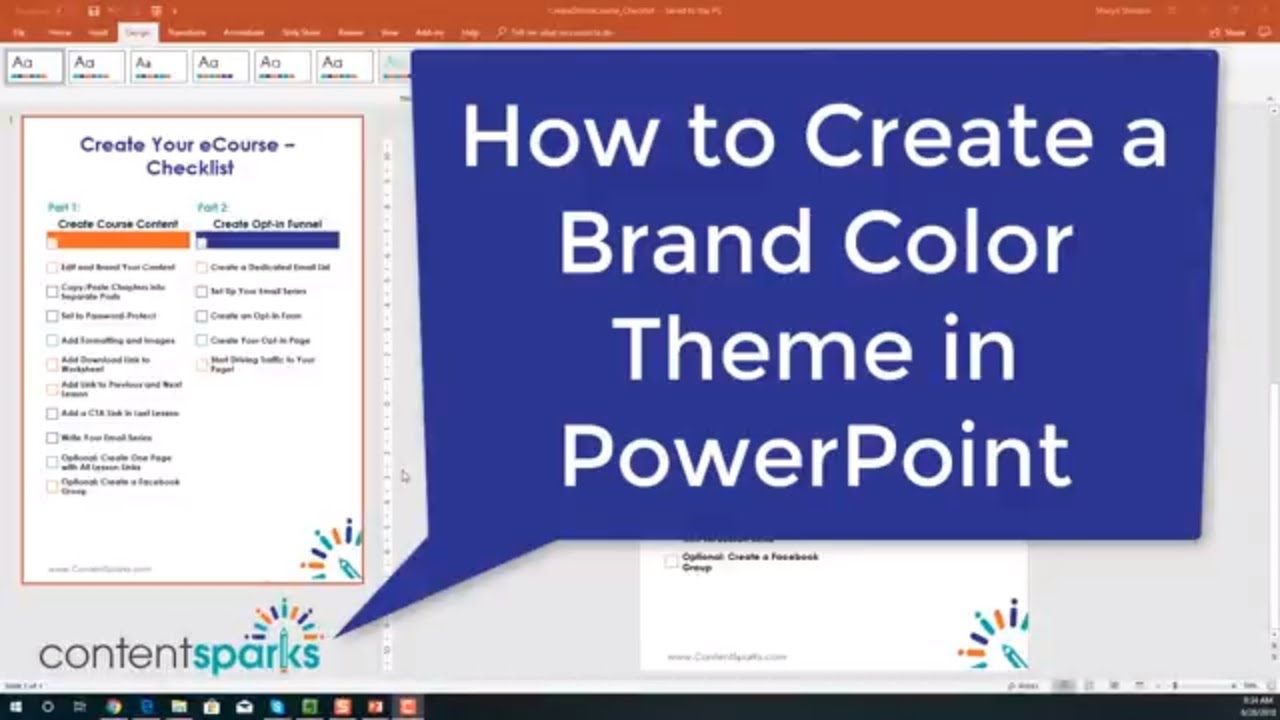 How To Create A Custom Theme In Powerpoint For Branding