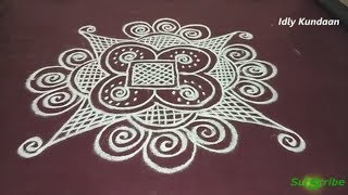 Beautiful Rangoli without Dots | Creative Easy Kolam Design For Beginners | Muggulu Rangoli