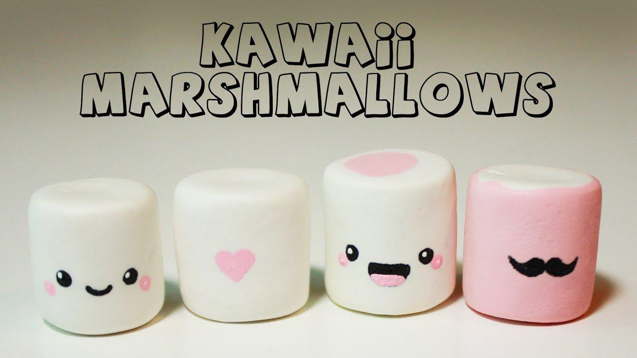 Polymer Clay Kawaii Marshmallows TUTORIAL