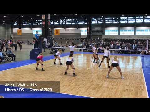 Abigail Wolf - Libero/DS - Class of 2020 - Volleyball Game Video