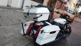 # St 750 touring kit, #touring, #saddle box, #side panniers, #harley davidson accessories,